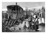 Sketches of Gypsy Life: a Camp Near Latimer Road, Notting Hill Giclee Print