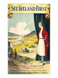 See Ireland First Travel Poster Giclee Print