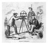 Surveying with a Mounted Compass Giclee Print