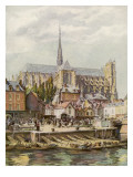 The Cathedral Seen from across the River Somme Giclee Print