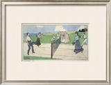 Les Sports Athletiques, Tennis Framed Giclee Print by Harry Eliott