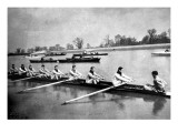 The Inter-Varsity Boat-Race: the Crews at Practice Giclee Print