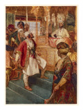 The Maratha Leader Shivaji Defies the Mogul Emperor Aurugzeb at Delhi Giclee Print