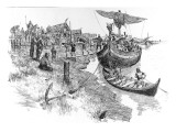 The Danish 'Aldwych' Settlement, 11th Century Giclee Print