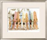Surfer Girls Framed Giclee Print by  Himani