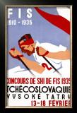 Czech Downhill Snow Ski Framed Giclee Print by  Horak & Koutsky