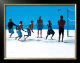 Volley Ball, Venice Beach Limited Edition Framed Print by Peter Nardini