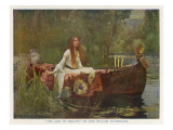 The Lady of Shalott Floating Down the River Giclee Print by John William Waterhouse