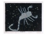 The Constellation of Scorpio, the Scorpion Giclee Print