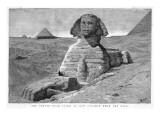 The Great Sphinx Cleared of Sand Giclee Print