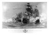 The Battle of Trafalgar, H.M.S. Victory Breaks the Line Giclee Print