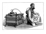The 'Aerophore' Breathing Apparatus, 1874 Giclee Print