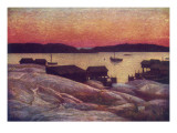 Swedish Scenery: a Summer Evening on the West Coast Giclee Print
