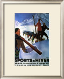 Sports d'Hiver, 1929 Prints by Roger Broders