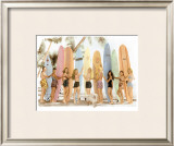 Surfer Girls Framed Giclee Print by  Himani