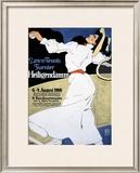 Lawn Tennis Tunier Framed Giclee Print by Hans Rudi Erdt
