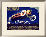 Autodromo National Framed Giclee Print