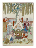 The Money Tree of the Chinese God of Riches Giclee Print