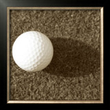 Sepia Golf Ball Study III Posters by Jason Johnson