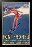 Font-Remeu, Saison d'Hiver Framed Giclee Print by Achille Luciano Mauzan