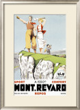 Mont Revard, Tennis and Golf Framed Giclee Print by Paul Ordner
