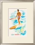 Matson Line Surfer Prints by Frank MacIntosh