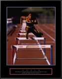 Goals: Runner Jumping Hurdles Prints