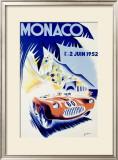 Monaco Grand Prix, c.1952 Framed Giclee Print