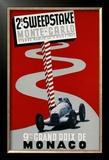 2e Sweepstake de Monte-Carlo, 9eme Grand Prix de Monaco Framed Giclee Print by Guy Serre