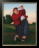 Golf Fore Prints by T. C. Chiu