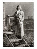 Sydney Carton on the Scaffold Giclee Print by Peter Higginbotham
