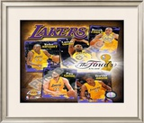 "2009 Finals - Lakers ""Big 5"" Framed Photographic Print"