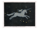 The Constellation of Monoceros - a Unicorn - and Canis Minor - a Small Dog Giclee Print