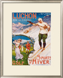 Luchon, Golf and Winter Sports Framed Giclee Print