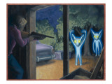 Terrorised by Small Glowing Aliens at a Farm Near Hopkinsville Giclee Print by Michael Buhler