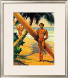 Surfers at the Beach Framed Giclee Print by H. B. Christian