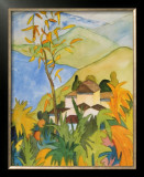 Village Above the Lake Poster by Hermann Hesse