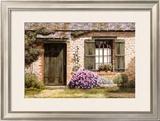Green Doorway Provence Art by Michael Duvoisin