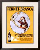 Fernet Branca Framed Giclee Print by Aldo Mazza