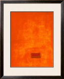 Untitled, c.1991 (Orange) Posters by Jürgen Wegner