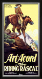 Art Acord Riding Rascal Cowboy Framed Giclee Print