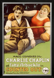 Chaplin Arbuckle Counted Out Framed Giclee Print