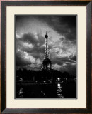 Nuit Orageuse au Tour Eiffel Art by H. Jennings Sheffield