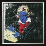 Beethoven, c.1987 (blue face) Poster by Andy Warhol