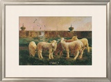 Five Lambs, 1988 Prints by Richard Yaco