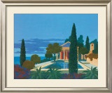 The Mediterranean Villa Print by Kipp Stewart