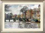 Zwanenburgwal Canal Print by Pep Ventosa