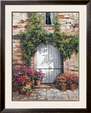 Wooden Doorway, Siena Posters by Roger Duvall