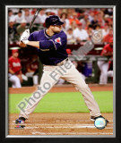Kevin Kouzmanoff 2008 Batting Action Framed Photographic Print