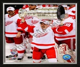 Jiri Hudler with the Stanley Cup, Game 6 of the 2008 NHL Stanley Cup Finals; 36 Framed Photographic Print